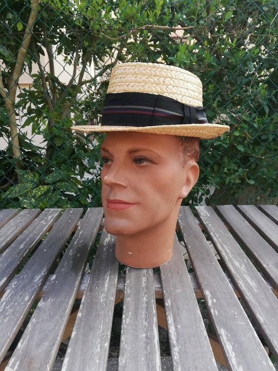 Vintage 1940s - 50s Stetson straw hat