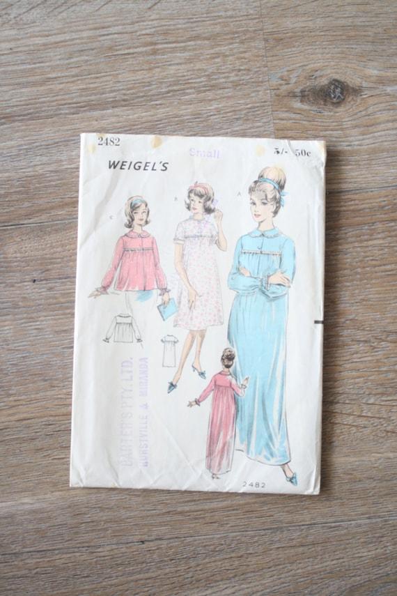 Alte Schnittmuster 60er Jahre Nachthemd & Bett Jacke Muster | Etsy