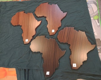 Africa plaque solid African Sapele Mahogany
