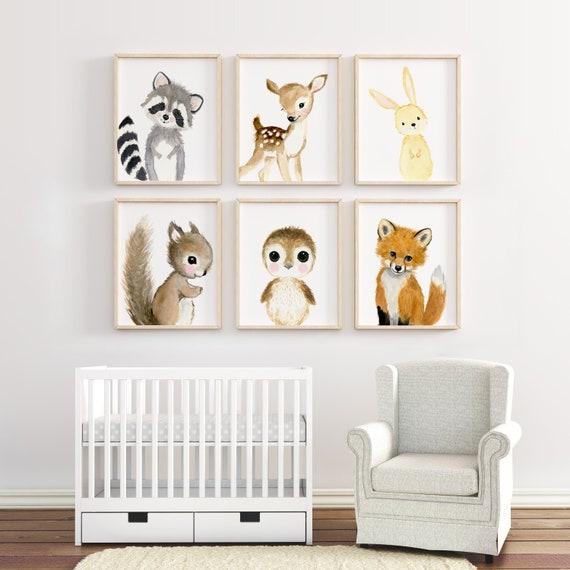 Woodland Nursery Decor Nursery Art Nursery Prints Nursery