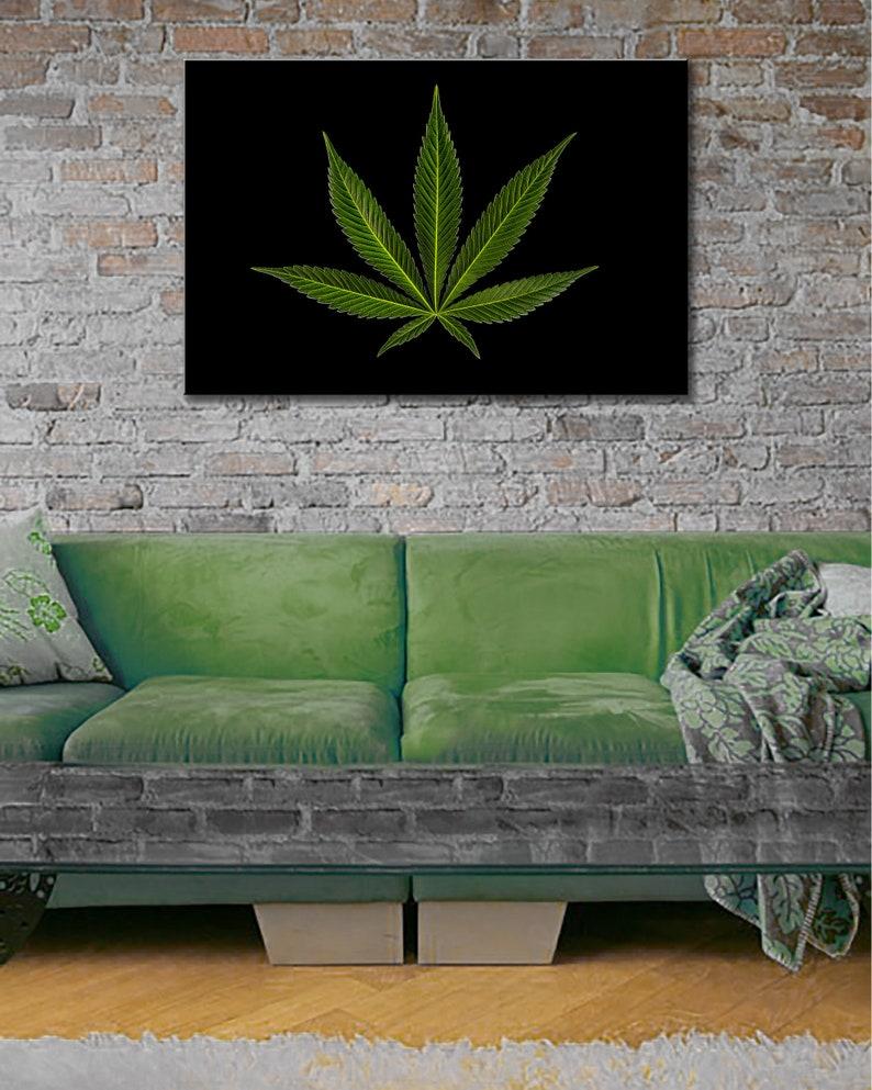 ProCannaPix Trademark Pot Leaf Aluminum Gallery Photo Print image 0