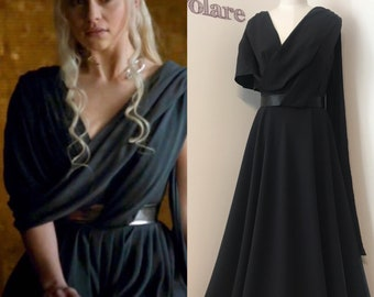Cosplay Daenerys Targaryen Black Dress of Games of Thrones