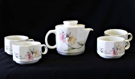 Vintage Dudson Super Vitrified Armorlite Tea Set Made In   Etsy
