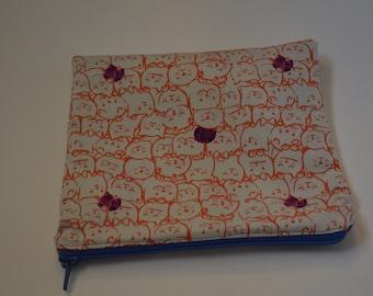 Orange Cats Zip Pouch, Makeup Bag, Cosmetic Bag, Pencil Case