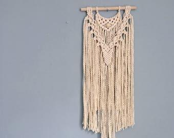 Handmade Macramé Wall Hanging / Beaded Arc / Wall Tapestry