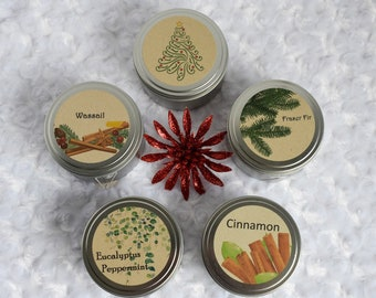 Christmas Candles - All Natural Soy Candles