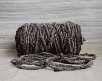 Suri Alpaca Rug Yarn - All Natural Dark Brown/Black/Grey