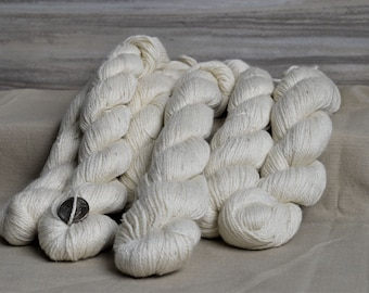 Natural Suri Alpaca Polwarth Silk Yarn