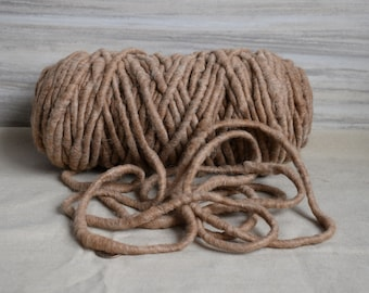 Suri Alpaca Rug Yarn - All Natural Light Brown