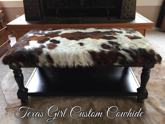 Outstanding Custom Build Cowhide Ottoman Coffee Table Foot Stool Unemploymentrelief Wooden Chair Designs For Living Room Unemploymentrelieforg