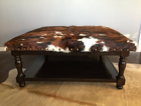 Wondrous Custom Build Cowhide Ottoman Coffee Table Foot Stool Unemploymentrelief Wooden Chair Designs For Living Room Unemploymentrelieforg