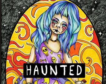 Haunted: Scary Halloween Coloring Book- Printable Coloring Book!