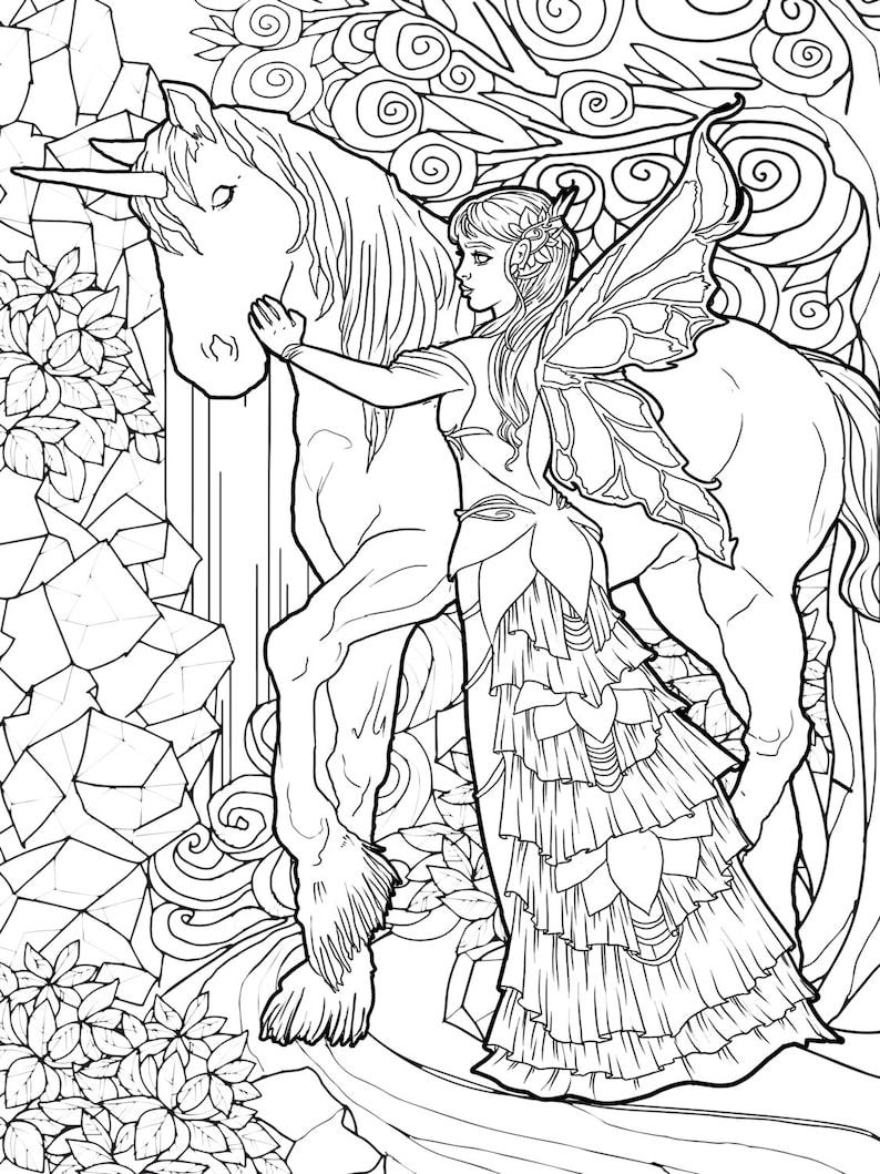 Magical Unicorns and Fairies: Adult Coloring Book Unicorn ...