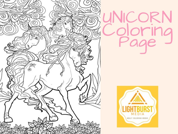 - Unicorn Coloring Page-Fantasy Coloring Page Printable Etsy