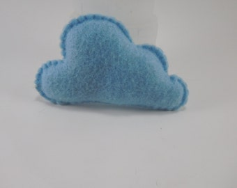Handmade cloud cat toy filled with organic catnip