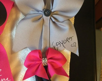 Eeyore inspired small cheer bow