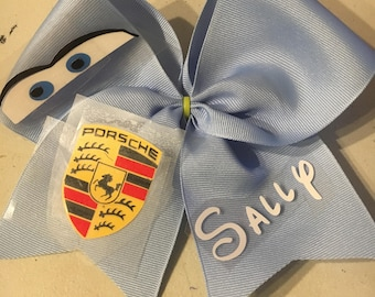 "Cars ""Sally"" inspired cheer bow"