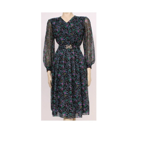 ORIGINAL 70's Vintage Long Sleeved Black, Purple a