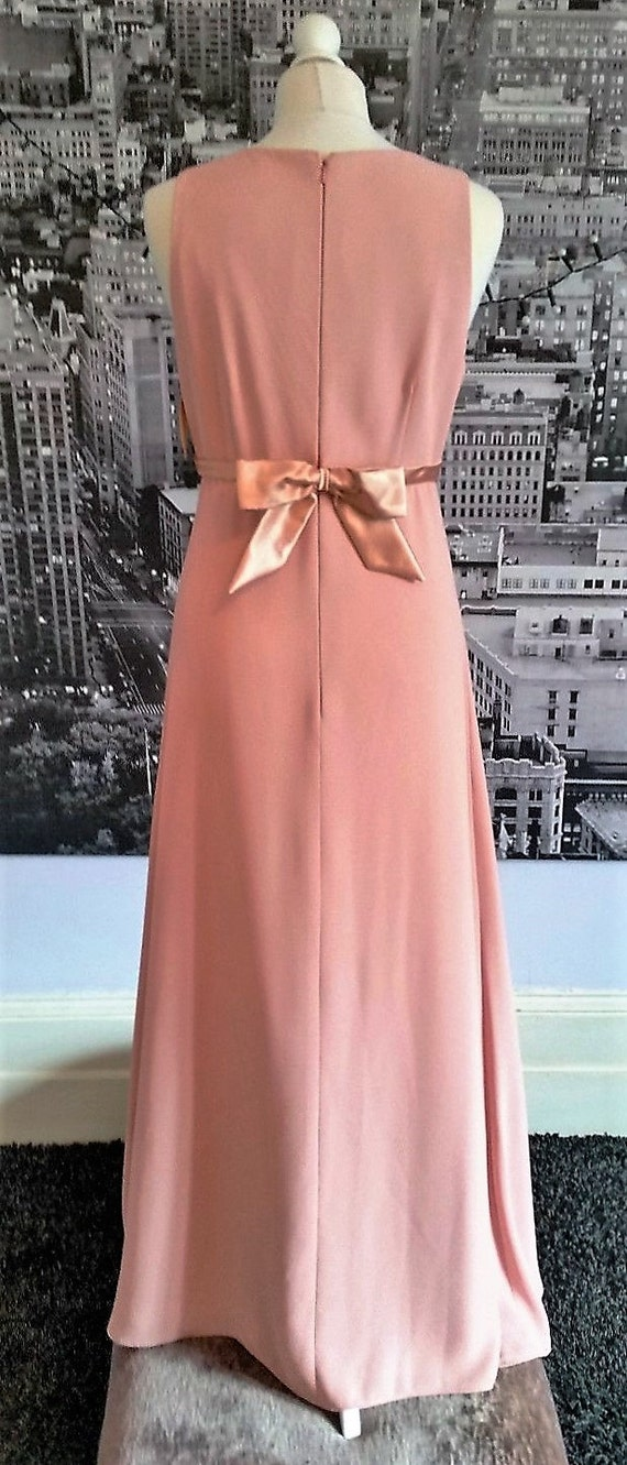 ORIGINAL Vintage 90er Jahre Lachs Abendkleid   Etsy 6be064e567