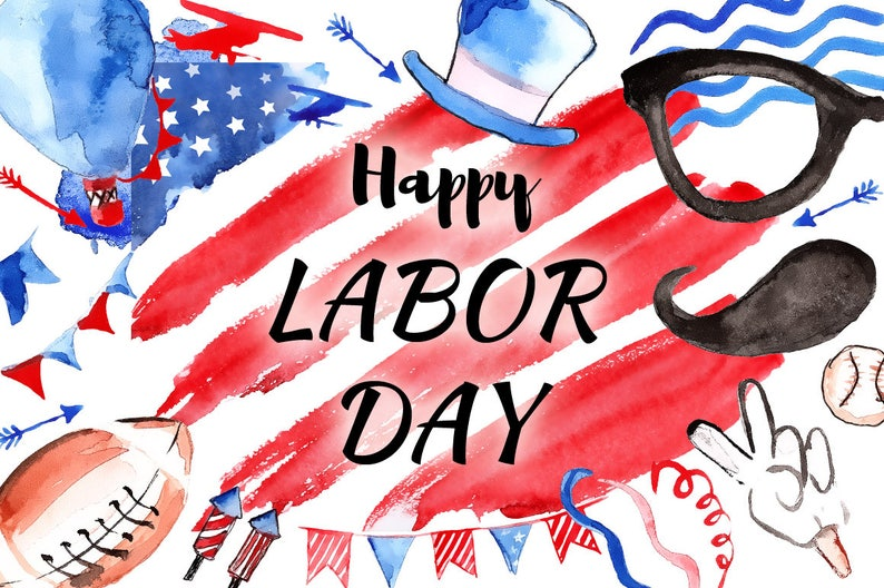 Labor Day Sale Patriotic Watercolor Clipart America Clip Art July 4th Clipart Independence Day Memorial Day Usa Watercolor American Flag Usa