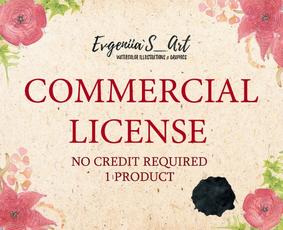 for ALL products no credit required COMMERCIAL LICENSE