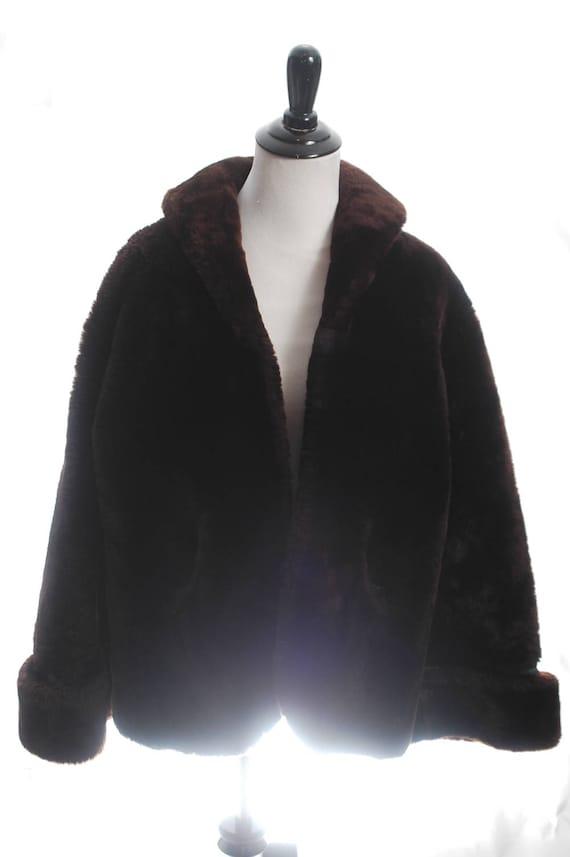 826a8bec4e6 Teddy Bear Coat Oversized Vintage Shearling Coat Sheepskin | Etsy