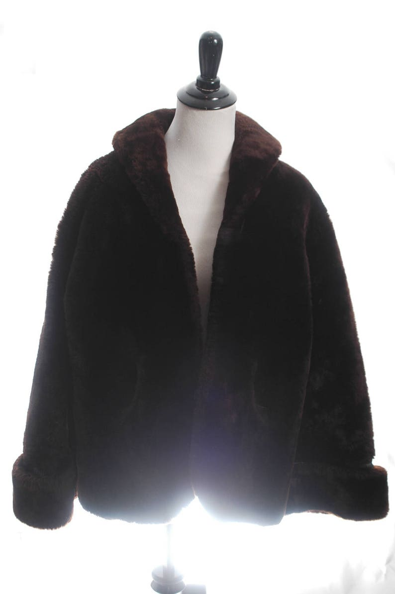 ebabf46b63403 Teddy Bear Coat Oversized Vintage Shearling Coat Sheepskin