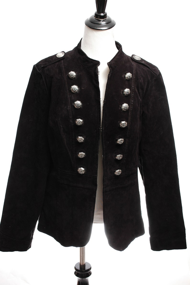 aba7df881 Vintage Suede Leather Sgt. Pepper Military Jacket Coat Festival Boho Hippy  Gypsy Large L