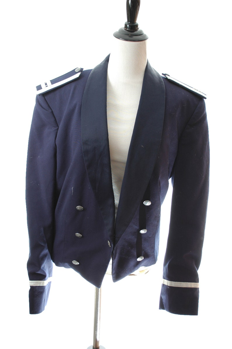 Vintage 90s US Air Force Jacket Women/'s Authentic Military Double Breasted Waist Coat Arm Fully Lined Blazer Jacket With Pants Full Suit