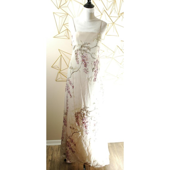 Vintage Silk Long Dress 1990s 90s Maxi Wedding Bri