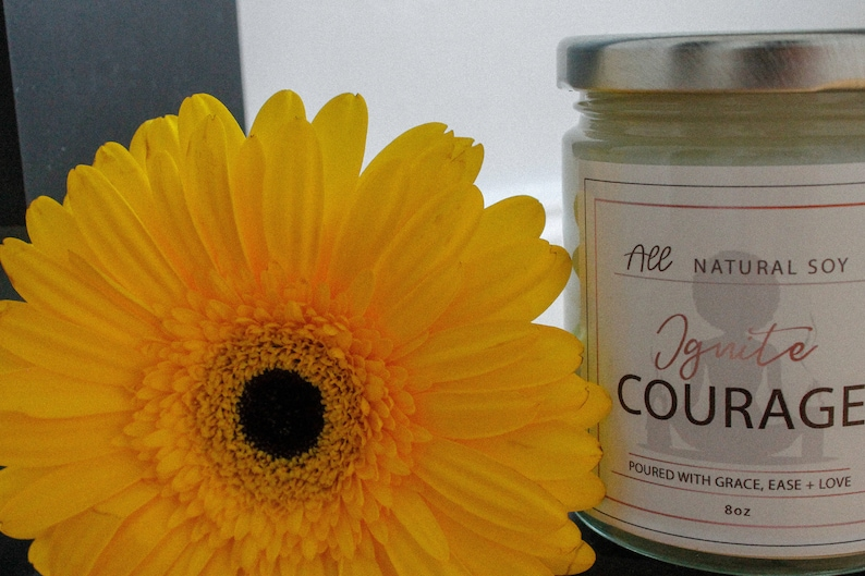 Ignite Courage: 100% Natural Scented Soy Candle Hand Poured image 0