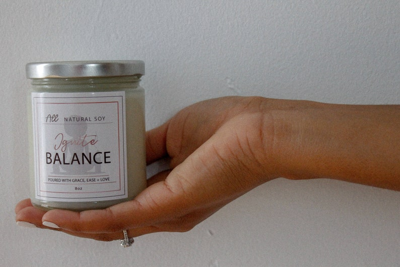 Ignite Balance: 100% Natural Scented Soy Candle Hand Poured image 0