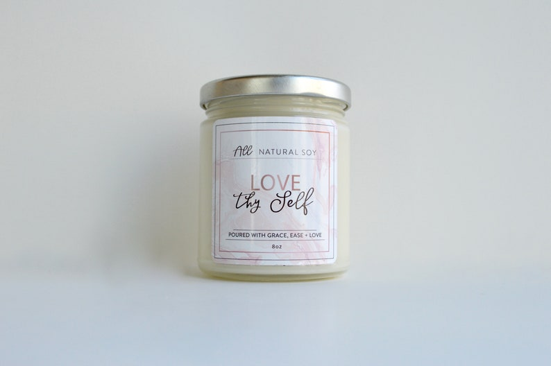 Love thy Self: 100% Natural Scented Soy Candle Hand Poured image 0