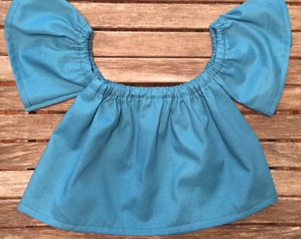 1a7f91c1b off the shoulder top - peasant top -childrens blouse - toddler clothing -  baby girl clothing -hippie-coachella-boho-strapless top-boho kids
