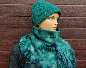 Premium alpaca silk wool red or sea wave color slouchy emerald green Best friend gift Navy blue Women alpaca beanie hat light grey