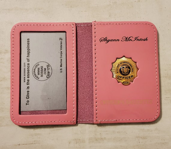 NYS Dept. of Correctional Services Officer's family case wallets - PINK