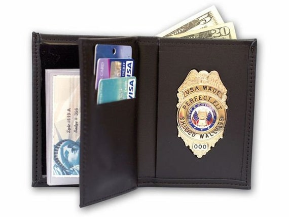 Badge with Double ID Wallet /3 CC Slots & Money Pocket