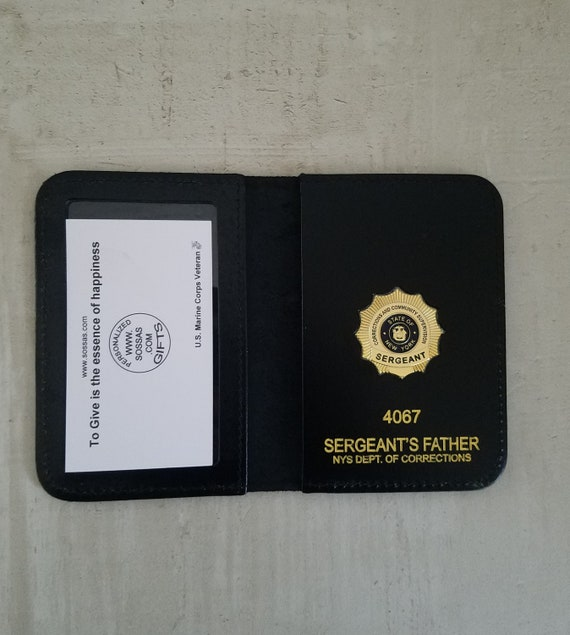 NYS Dept. of Corrections and Community Supervision Sergeant's Family and Friends Courtesy Case Wallets.