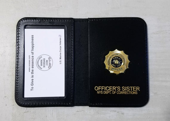 NYS corrections and community supervision officer's family and friends courtesy case wallets.