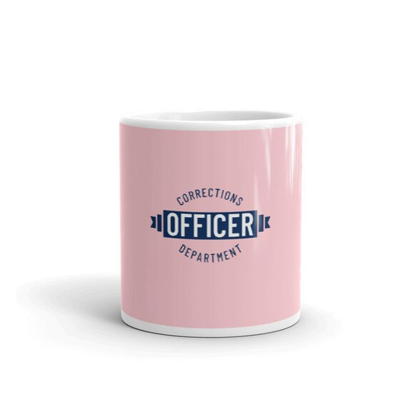 Corrections Dept. ceramic coffee cup