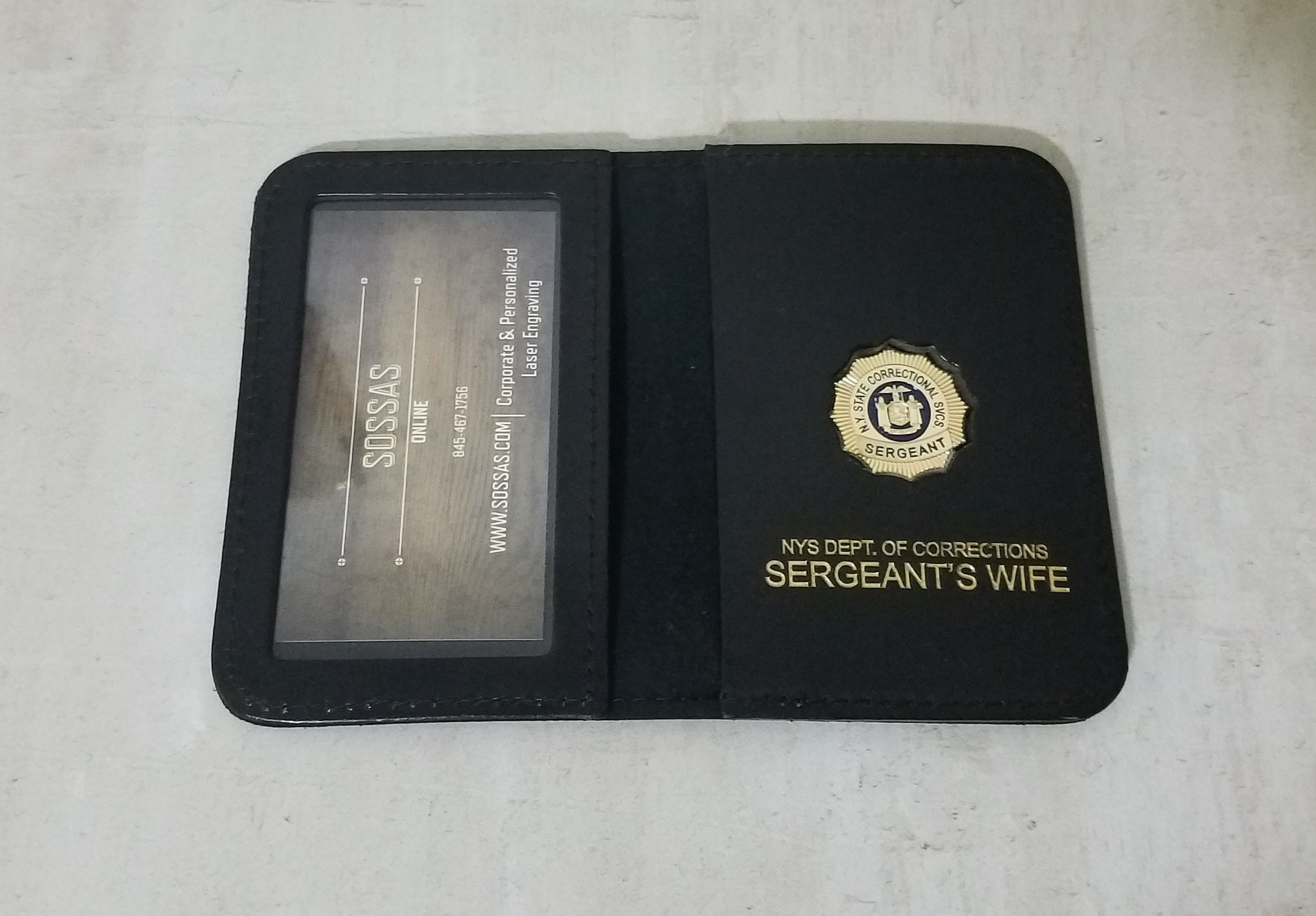 Mini Badge Included NYS Dept of Correctional Services Officer/'s Sister Wallet
