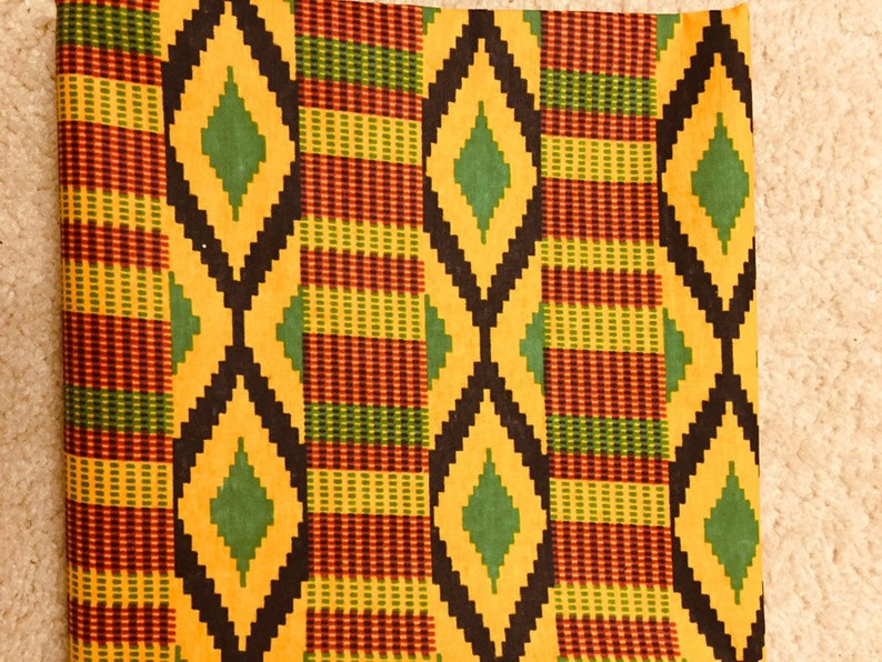 6 Yards African fabric African print fabric Kente Print Fabric African wax print Ankara fabric 100/% Cotton Fabric African Head Wrap
