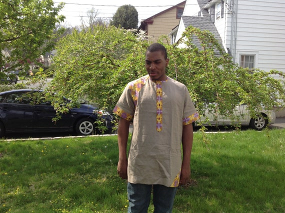 African Fabric Men shirt, Men linen shirt, Dashiki men shirt, Men kaftan, African caftan, African shirt, Men cotton shirt, African Fashion