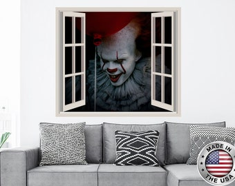 """PENNYWISE  IT BALLOON LARGE 22/""""x31/"""" WALL VINYL DECAL STICKER REMOVABLE"""