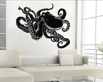 & Octopus wall decal | Etsy