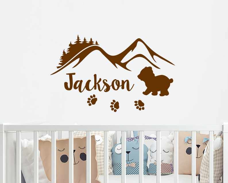 Perfect Boy Name Wall Decals Nursery Woodland Wall Sticker Nursery | Etsy