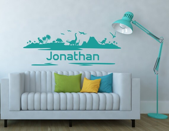 StylewithDecals Wall Decal Boys Name Adventure Awaits Arrow Vinyl Stickers Personalized Name Mountain Nursery Bedroom Kids Custom Name C681