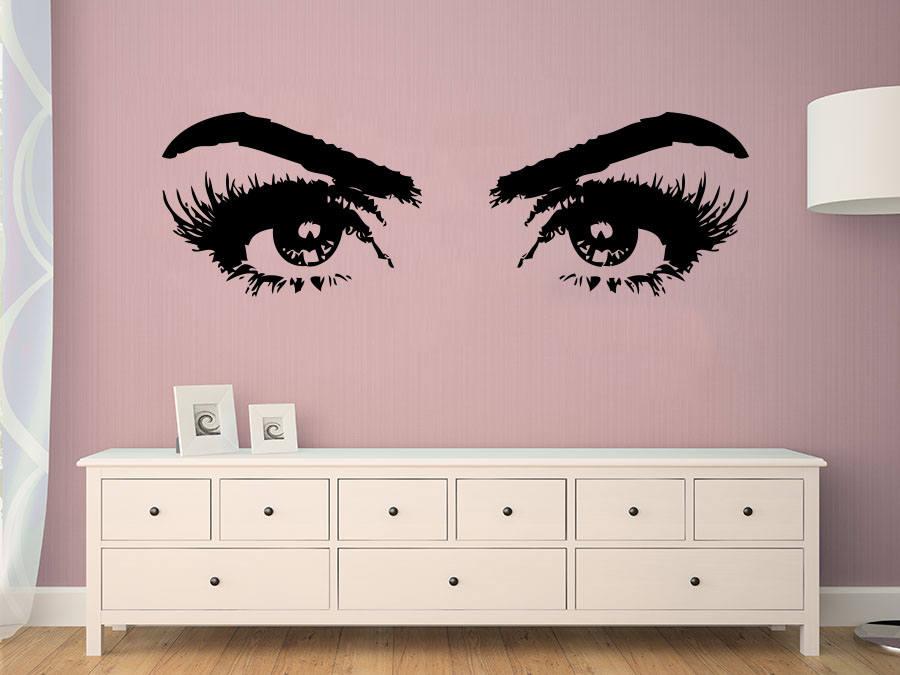 Eyelashes Eye Wall Sticker Girls Eyes Wall Decals Beauty Etsy