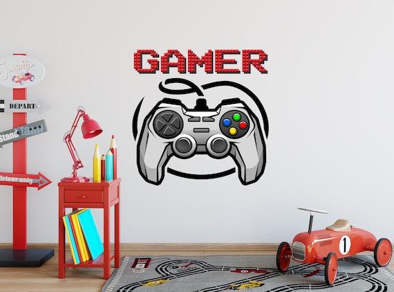 Game Night Wall Decal Joystick Playstation Vinyl Sticker Murals Gamer Room PS74
