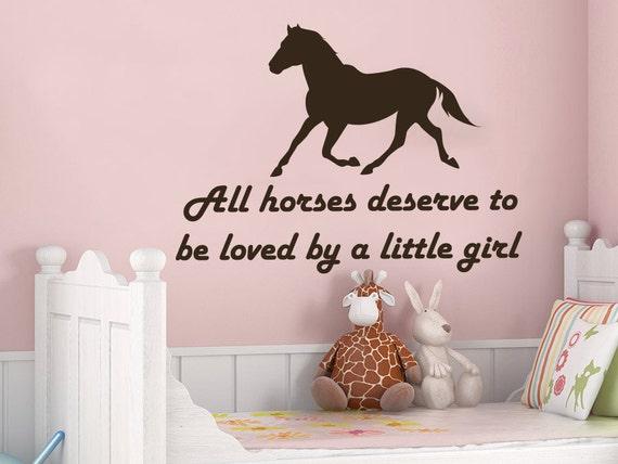 Wall Sticker Horses Design Art Vinyl Decals Kids Bedroom Home Decor 32 X 24 Inch
